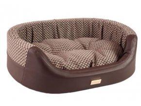 pelech pro psa argi ovalny morgan hnedy 73 x 64 x 22 cm
