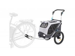 28543 trixie vozik za kolo pro psy rychloskladaci s