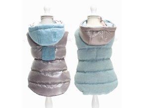 Croci Twosides Grey oboustranná bunda pro psy (Velikost výrobku 35)