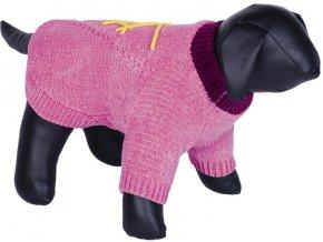 Nobby BANDA pletený svetr pro psy růžový (Velikost výrobku 32)