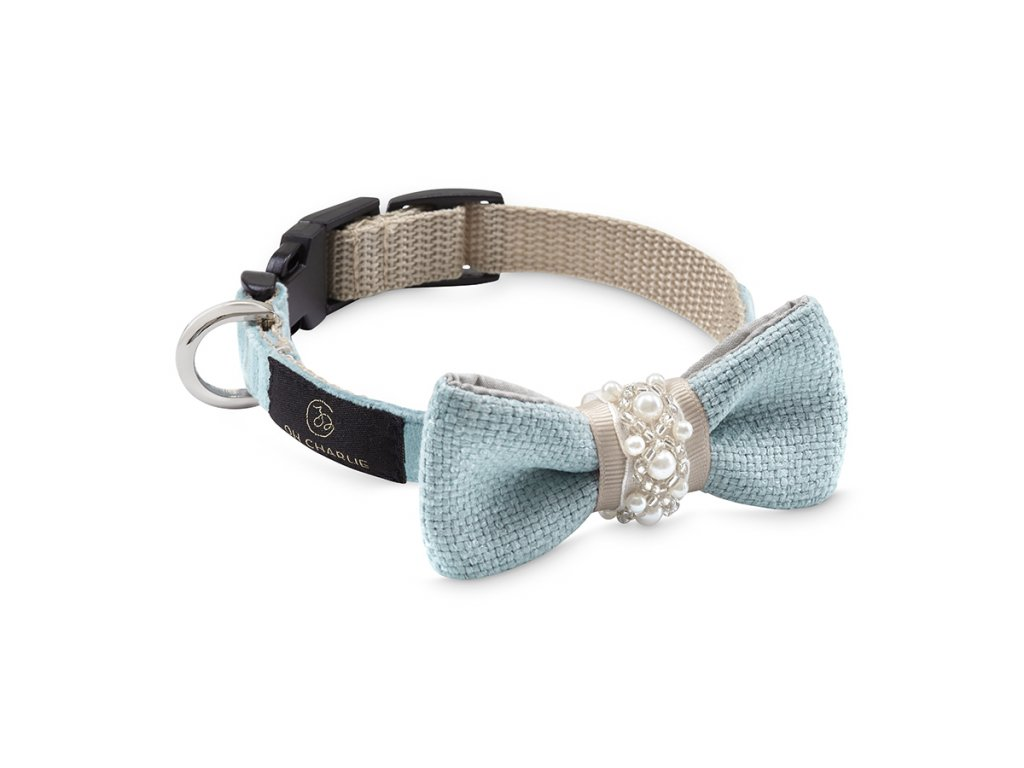 Bow tie Pearls blue