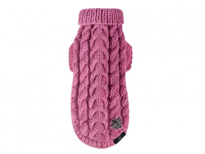 299 6 tmave ruzovy pleteny svetr bebe s pro psa i kocku