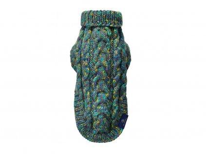 290 1 zeleny pleteny svetr precious pro psa i kocku