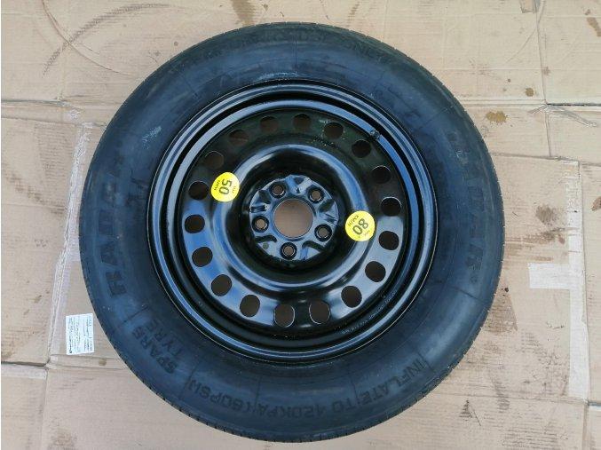 Dojezdové kolo Kia, Mazda, Hyundai, Mitsubishi 5x114,3 R17 pneu 155/90 a 135/90