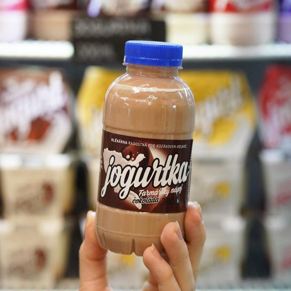 Jogurtka čokoláda z farmy Volavec 300 ml