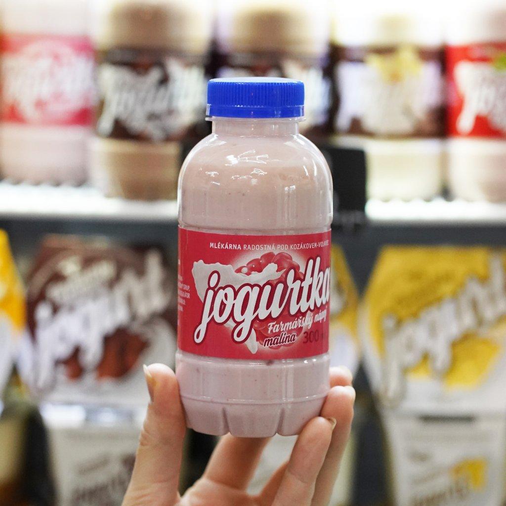 Jogurtka malina z farmy Volavec 300 ml