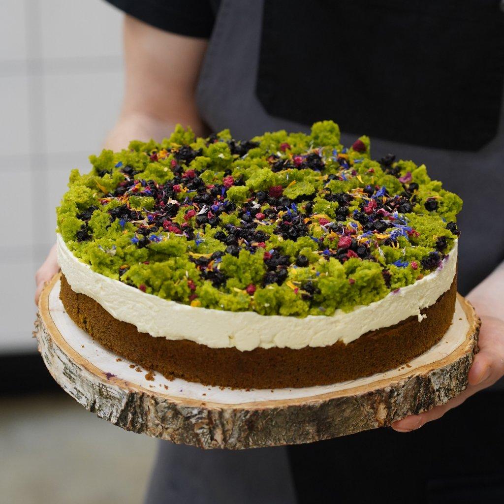 Mechový dort.