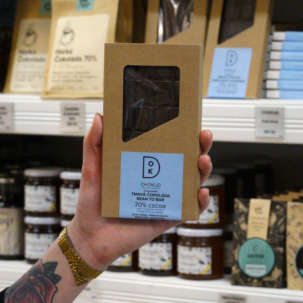 CHOKLID Tmavá čokoláda 70 %. El Salvador. Bean to bar