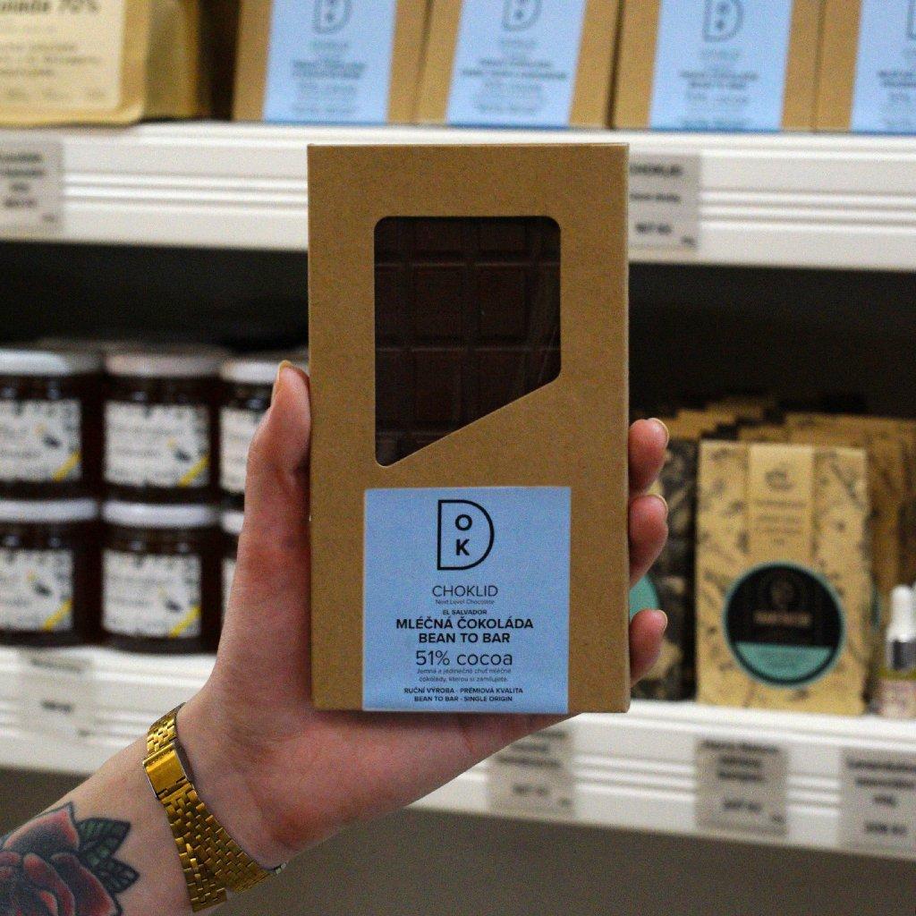 CHOKLID Mléčná čokoláda 51%. El Salvador. Bean to bar.