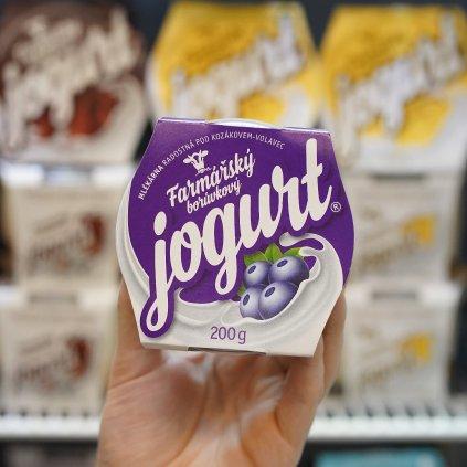 Jogurt borůvkový z farmy Volavec 200g