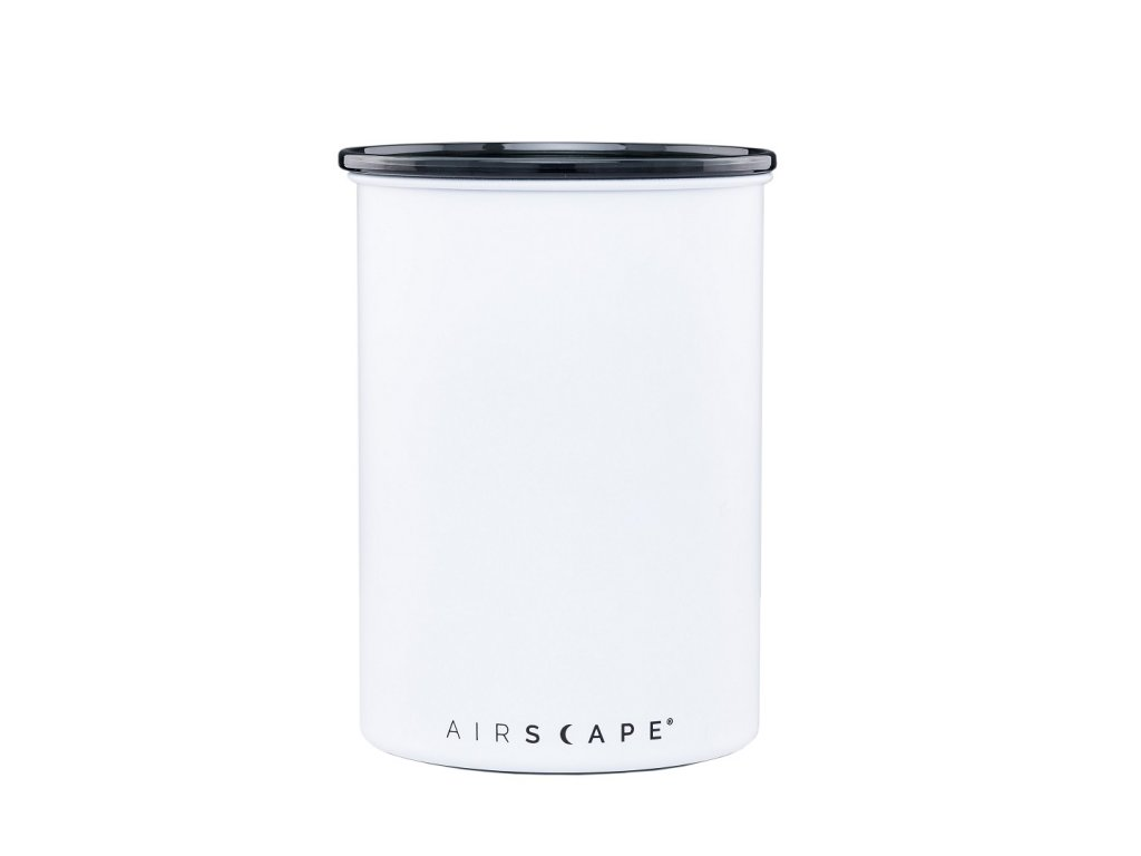 Airscape Stainless coffee canister Matte White AS2007 01 web