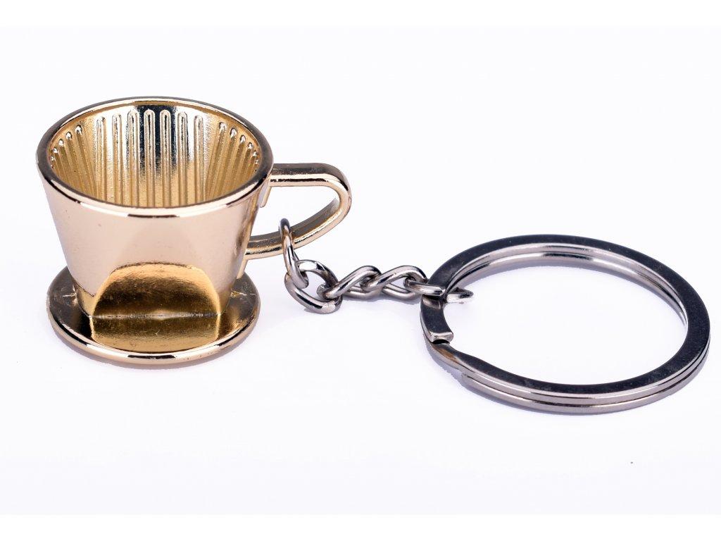16 afg schluessel anhaenger kaffee filter gold