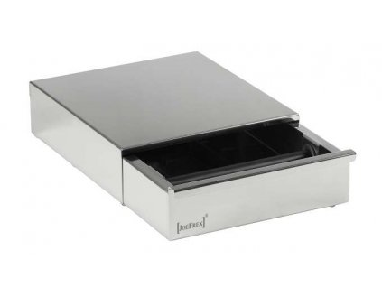 4 dmp stainless steel knock box drawer