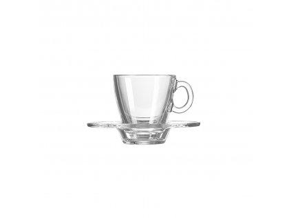 Skleněný šálek s podšálkem na espresso 0,072l