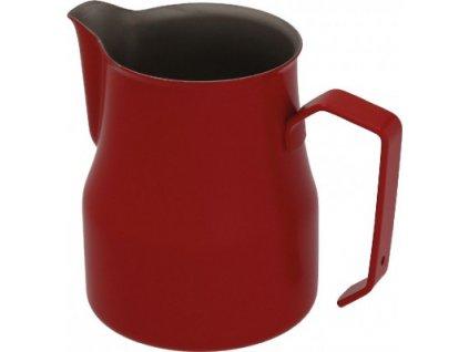 červená motta konvička na mléko