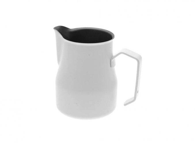 bílá motta konvička na mléko