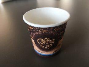 Papírový kelímek na espresso 110ml, 50ks