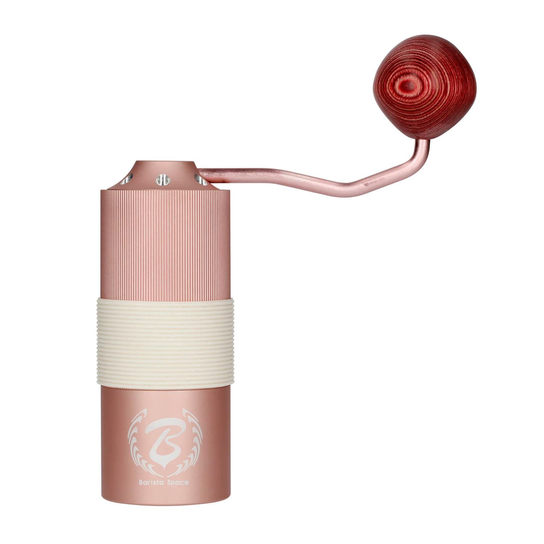 Barista Space ruční mlýnek na kávu růžový