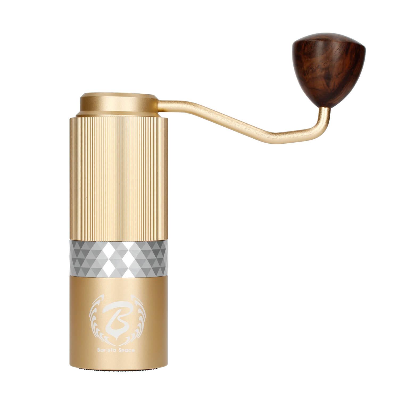 Barista Space ruční mlýnek na kávu zlatý