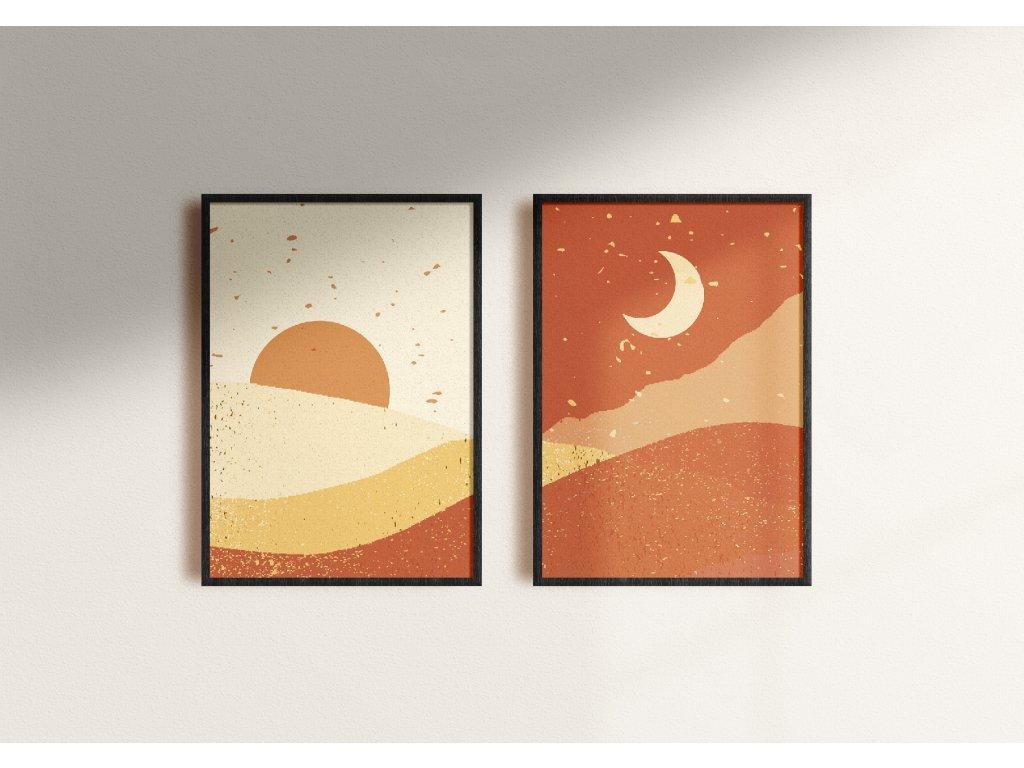 plakat slunce mesic