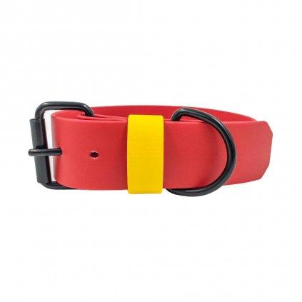 Široký obojek pro psa - červený