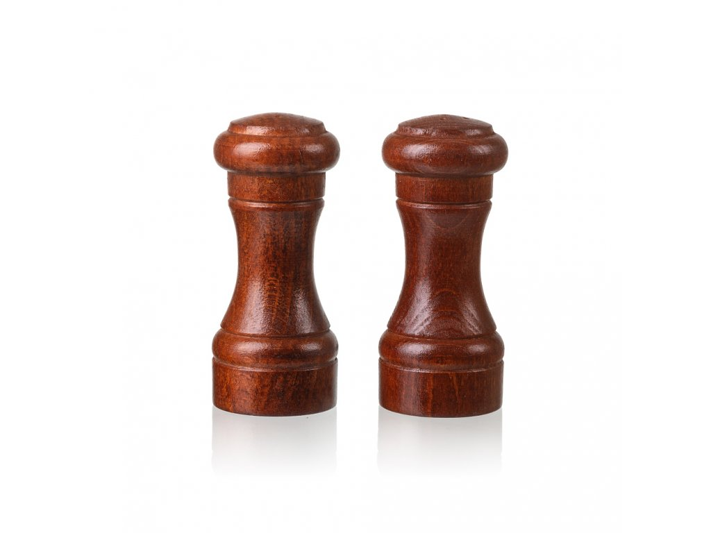 12596 drevena slanka a peprenka 10 cm tmave Doleo.cz