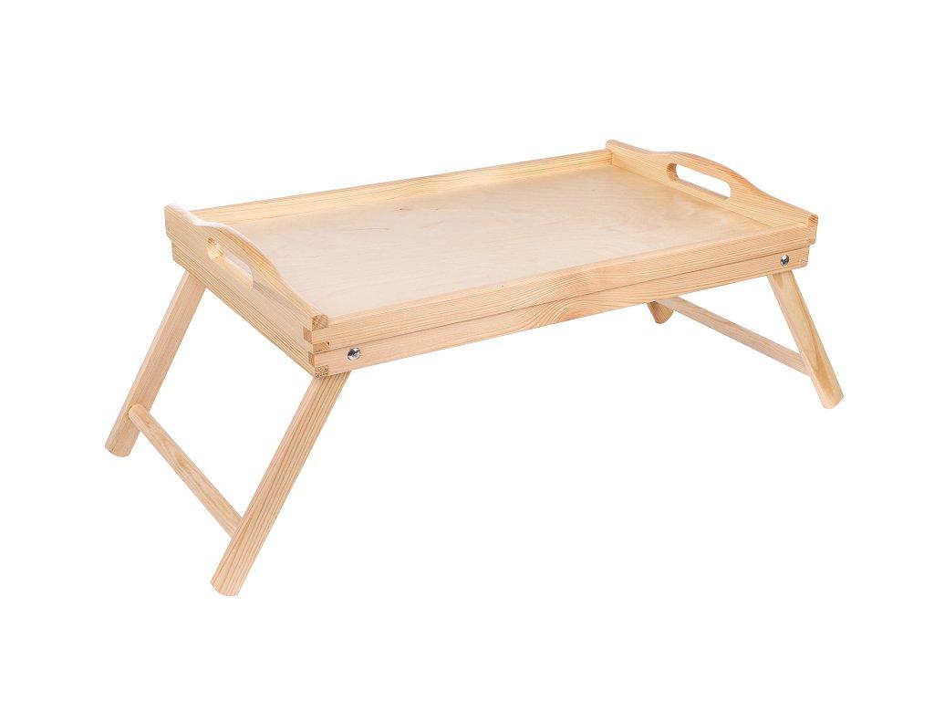 13121 2 dreveny servirovaci stolek do postele 50 x 30 cm Doleo.cz