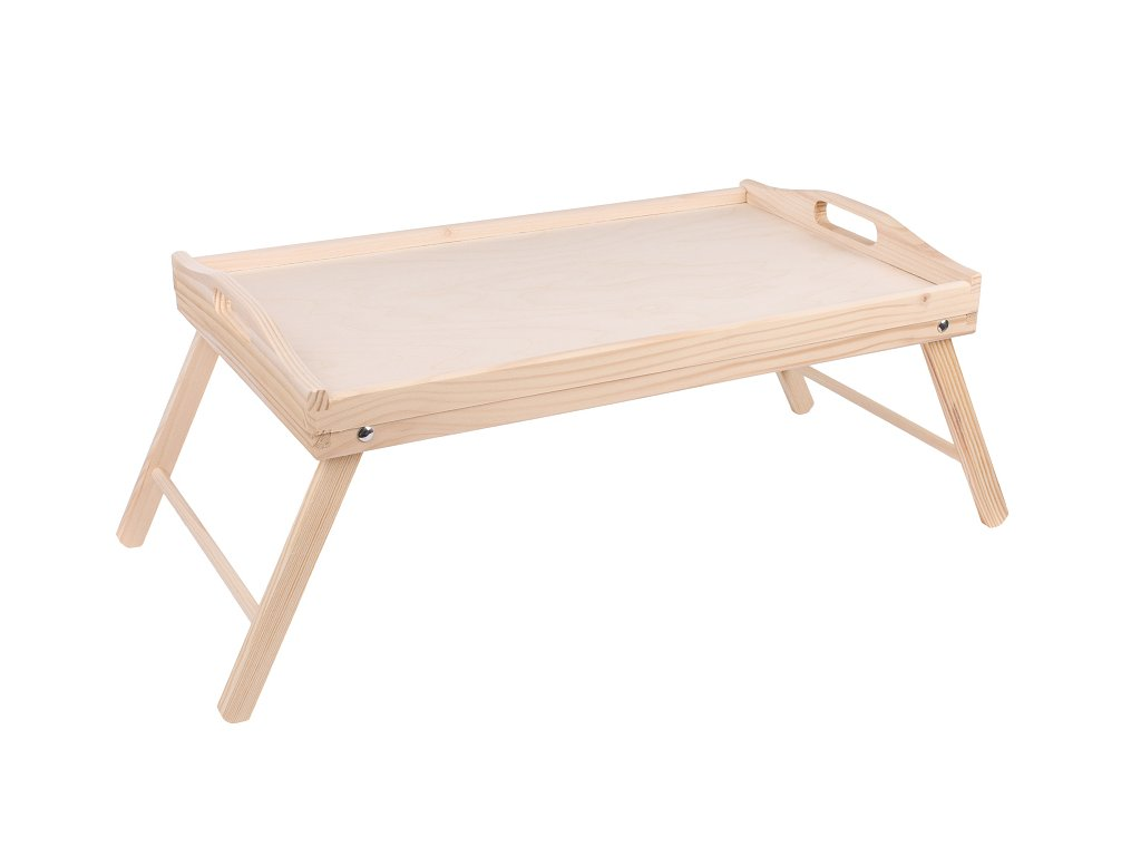13112 1 dreveny servirovaci stolek do postele 50 x 30 cm nelakovany Doleo.cz