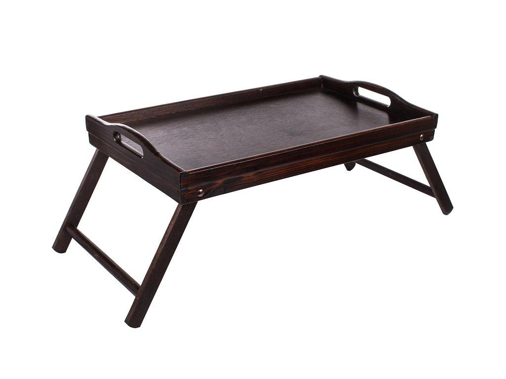Servírovací stolek do postele 50 x 30 cm tmavý   www.doleo.cz