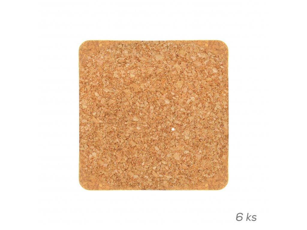 14819 orion korkovy podtacek ctvercovy 9 5x9 5 cm 6 ks Doleo.cz
