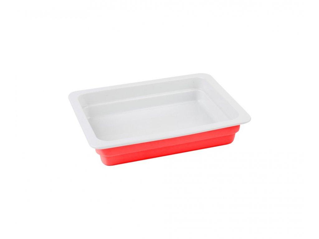 Litinový talíř 33 x 26 cm červený Doleo.cz