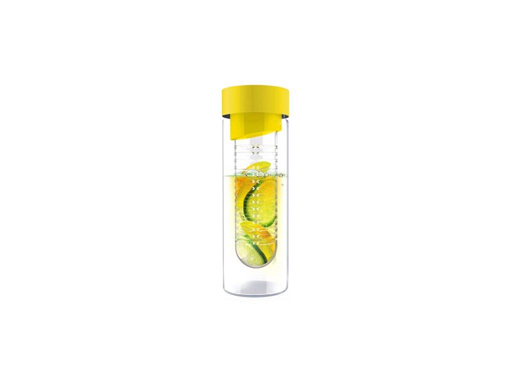 Skleněná láhev FLAVOUR IT 480 ml žlutá s infusérem Doleo.cz