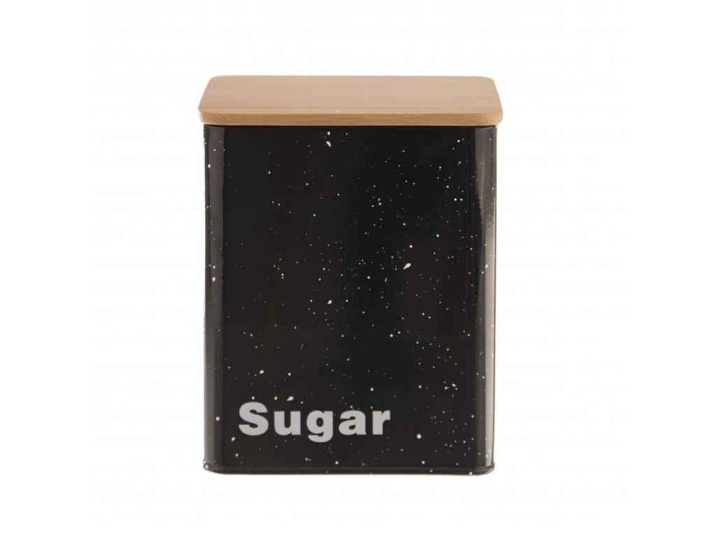 Plechová dóza s víkem tmavá - sugar