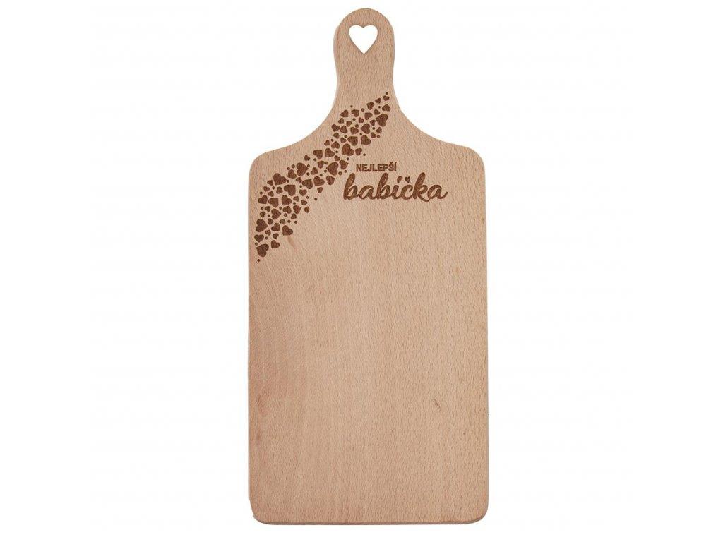 Dřevěné prkénko 30 x 14 cm - Nejlepší babička