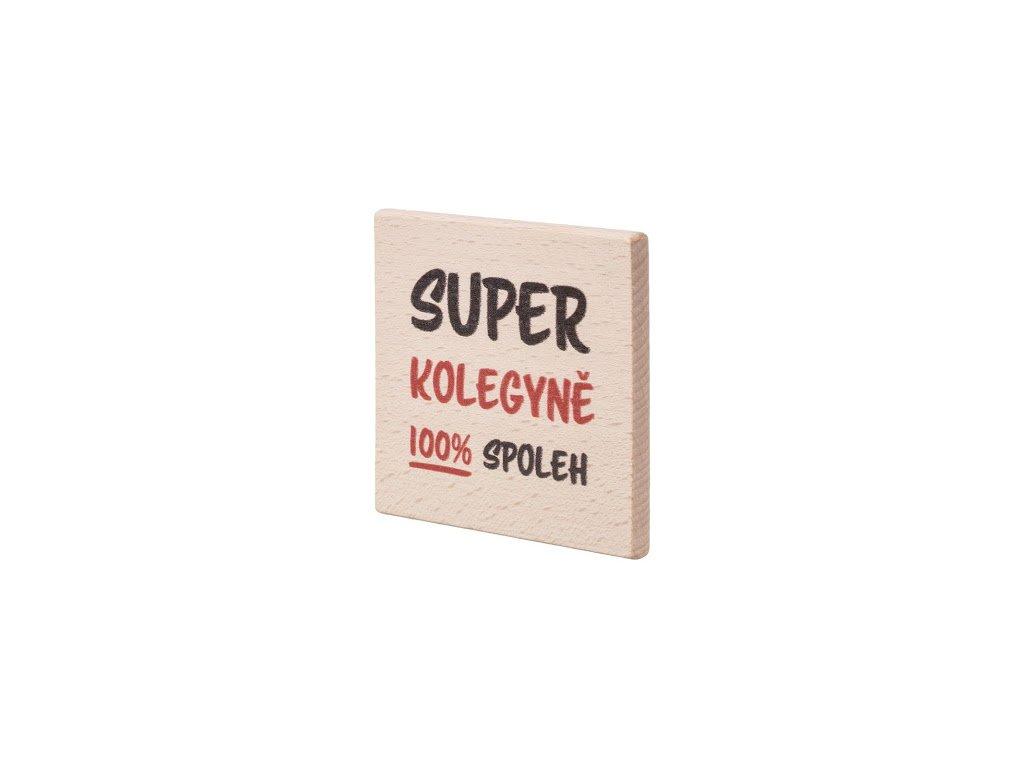 Dřevěný podtácek Super kolegyně
