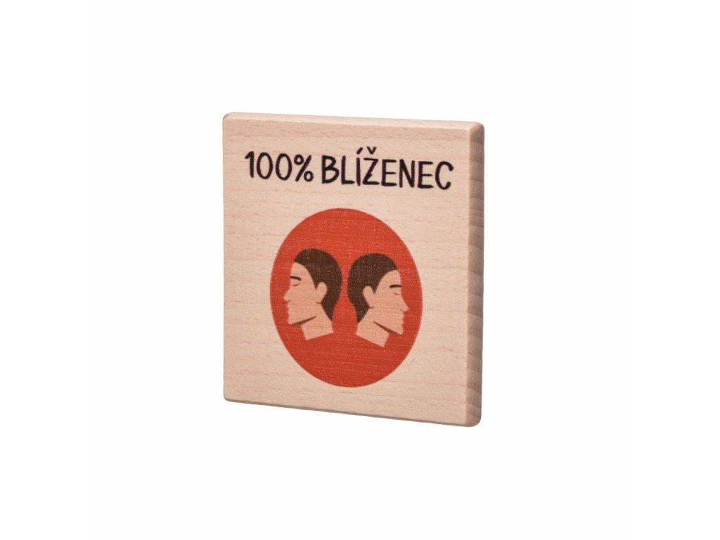 Dřevěný podtácek - 100% Blíženec