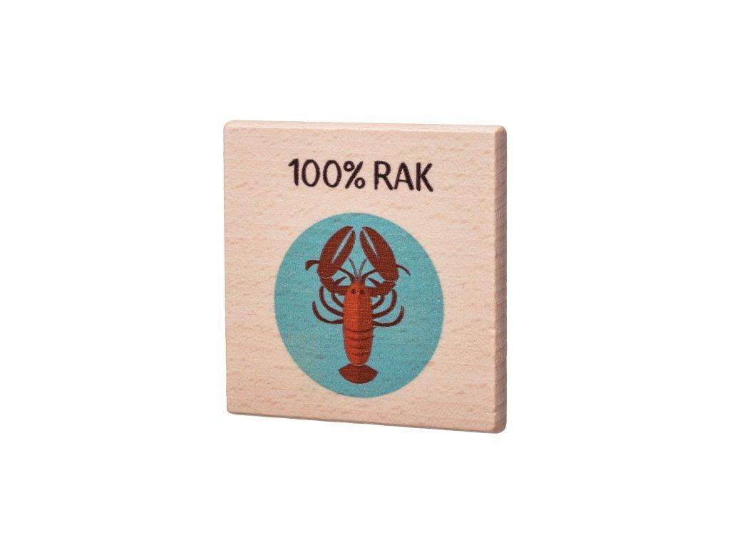 Dřevěný podtácek - 100% Rak