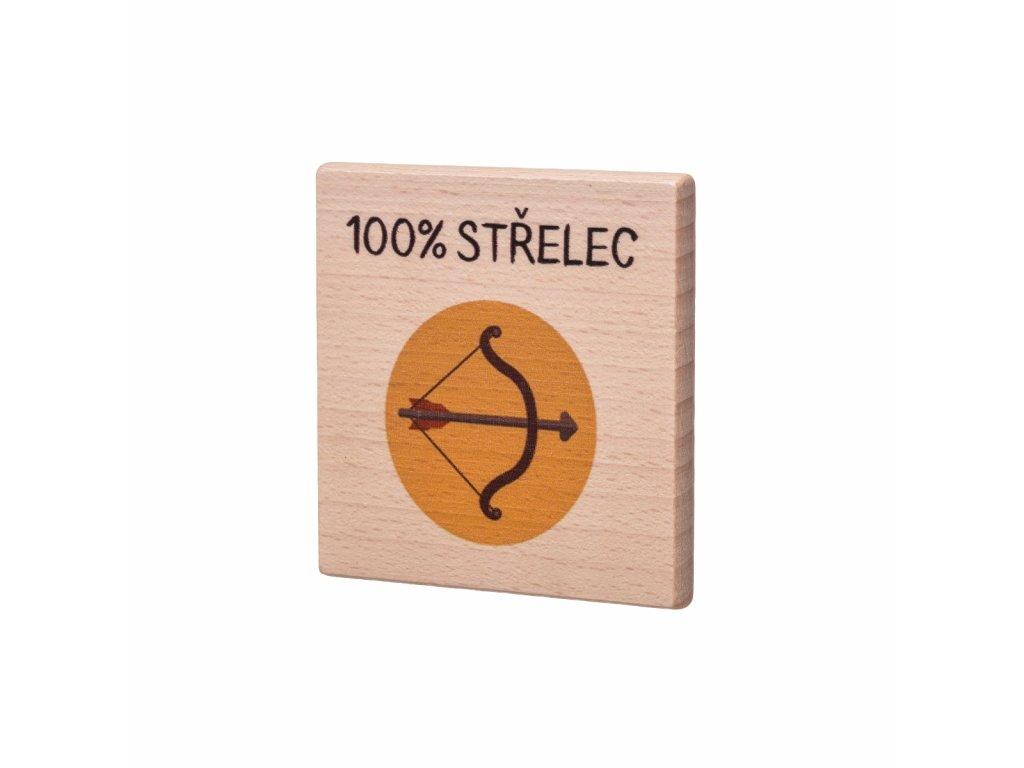 Dřevěný podtácek - 100% Střelec
