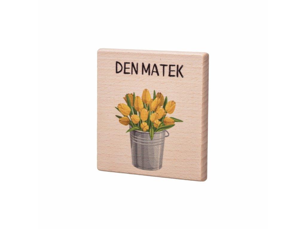 Dřevěný podtácek - Den Matek