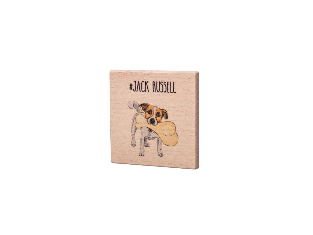 Dřevěný podtácek - Jack Russell