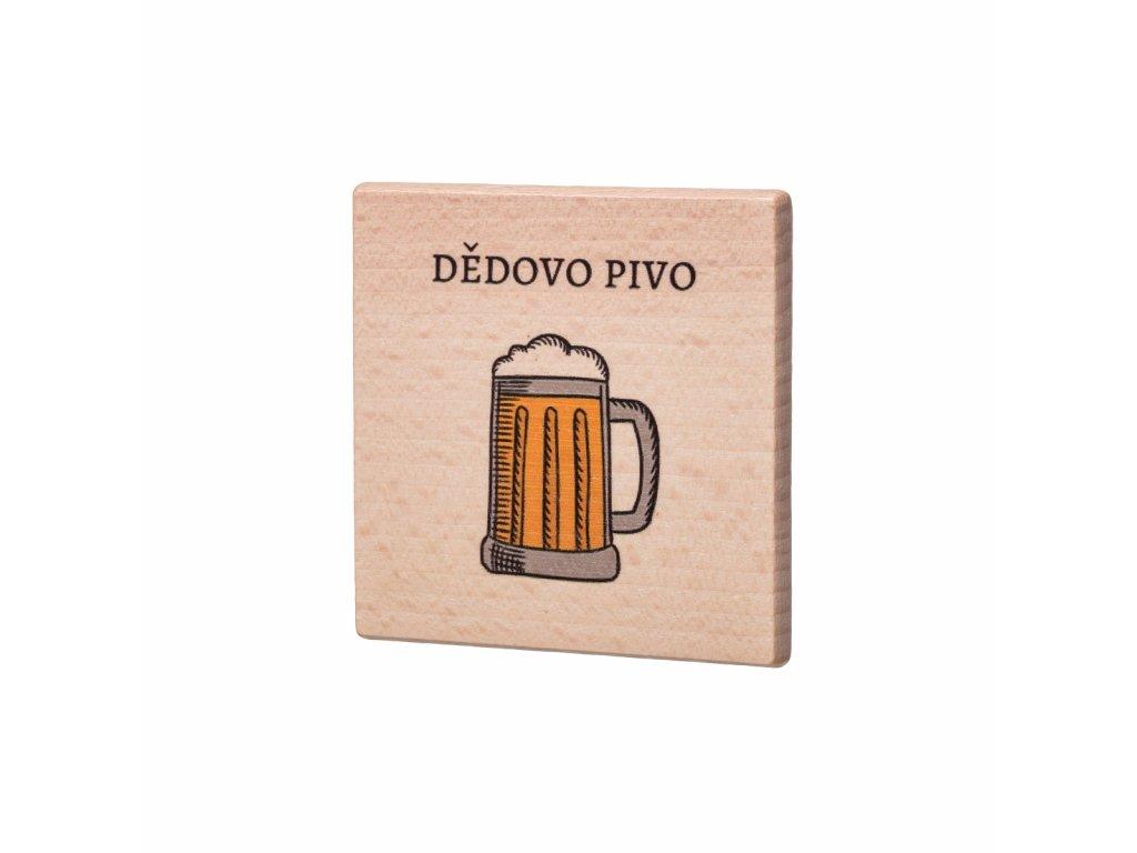 Dřevěný podtácek - Dědovo pivo