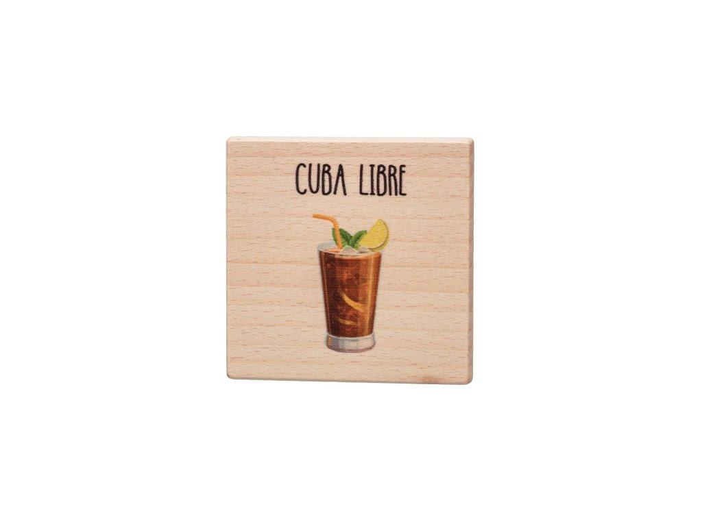 Dřevěný podtácek - Cuba Libre