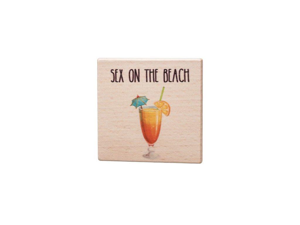 Dřevěný podtácek - Sex on the beach