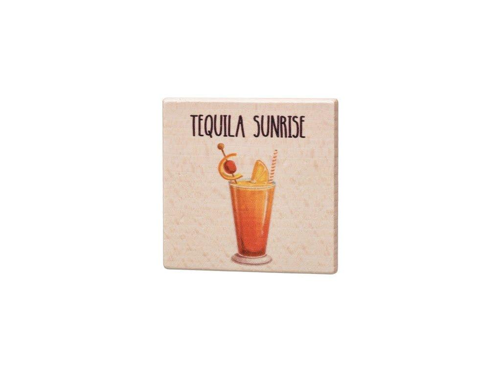 Dřevěný podtácek - Tequila Sunrise