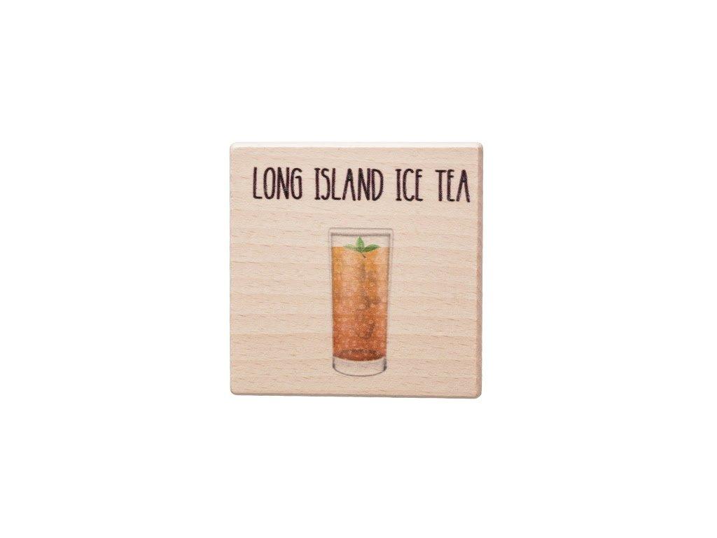 Dřevěný podtácek - Long Island Ice Tea