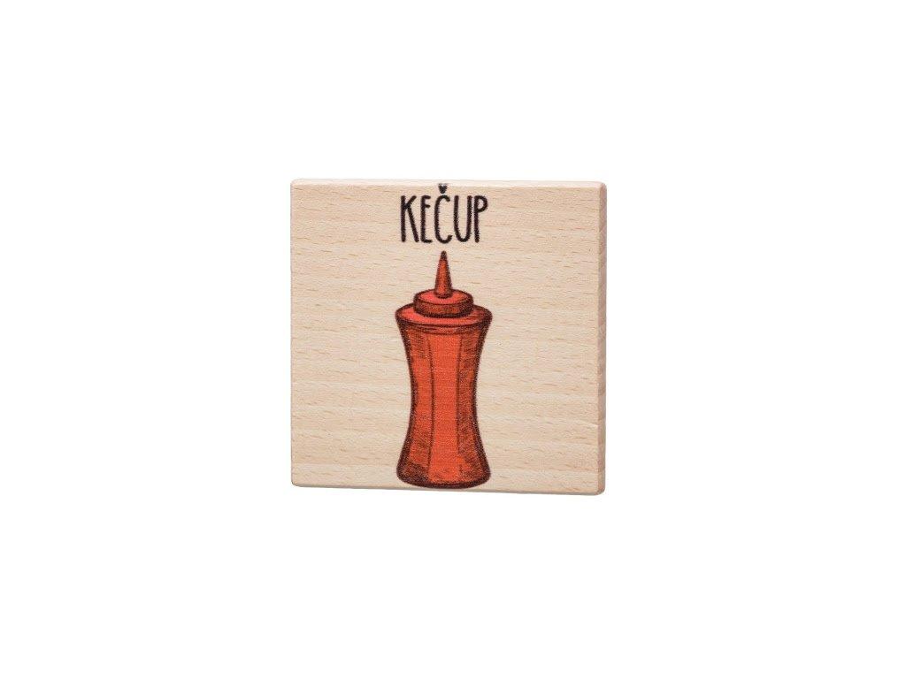 Dřevěný podtácek - Kečup