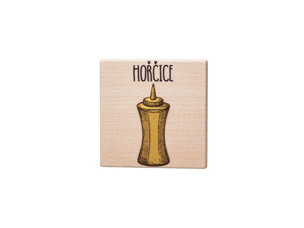 Dřevěný podtácek - Hořčice