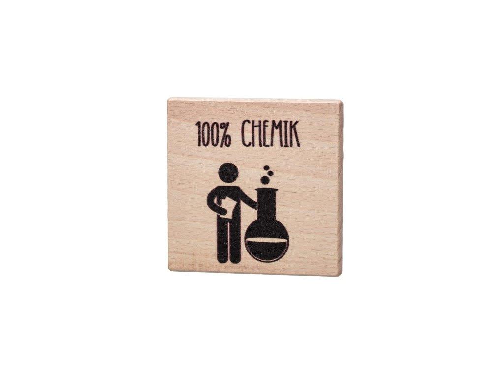 Dřevěný podtácek - 100% Chemik
