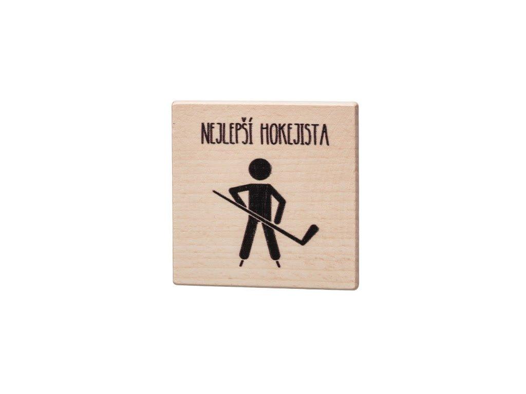 Dřevěný podtácek - Nejlepší hokejista