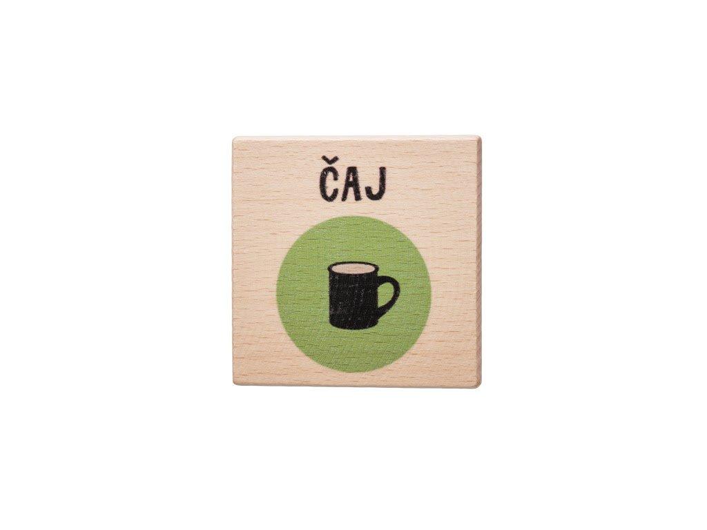 Dřevěný podtácek - Čaj
